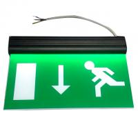 China Alumium End Cap Battery Powered Rechargeable Double Sided Exit Signs on sale