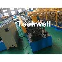 Quality 1.0-3.0mm Coil Thickness , PLC Frequency Control Guide Rail Cold Roll Forming Machine wholesale