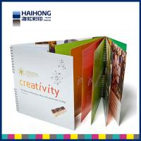 Quality A4  CMYK , 4C Spiral Bound Book Printing / brochure printing and binding service wholesale