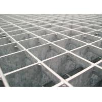 Quality 25 * 5 / 32 * 5 Pressure Locked Steel Grating Walkway 24 - 200mm Cross Bar Pitch wholesale