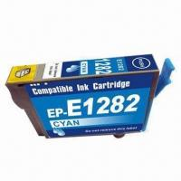 Quality Compatible Ink Cartridge/Inkjet Printer Cartridge for Epson T1282 Cyan, Patent Ink Cartridge wholesale