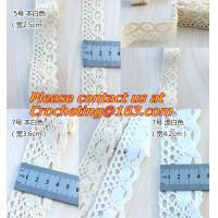 China 5M Ivory 2.5cm Width Vintage Style Cotton Crochet Lace Edge Trim Ribbon Sewing Crafts Fabr on sale