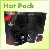 Buy cheap Organic Matte Black Printed Stand Up Pouches , 100g - 1000g Tea Packaging Pouch product