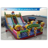 China Waterproof Pororo Inflatable Double Slip And Slide Inflatable Fairyland Park For Playing on sale