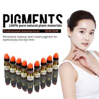 Quality Multi Color Organic 8ml Semi Permanent Makeup Pigments , Eyebrow Tattoo Ink wholesale