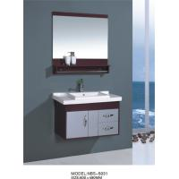 Quality hung  cabinet / PVC bathroom vanity / wall cabinet / red color for house 80 X49/cm wholesale