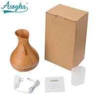 Quality 300ml PP Material Atomizer Aroma Air Humidifier Wood Grain For Office Home wholesale
