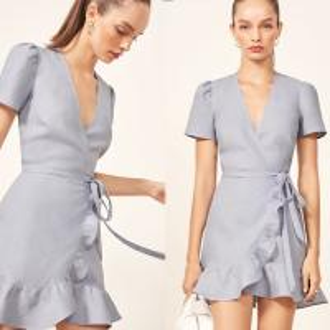 China Ladies Summer Fashion Clothing Linen Fabric Wrap Dress on sale