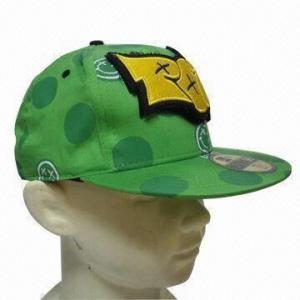 Quality Flat Peak Sports Cap, Made of 100% Cotton Twill wholesale