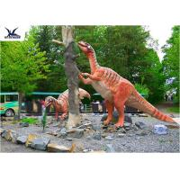 Quality Amusement Park Decoration Realistic Dinosaur Statues Artificial Mother And Baby Models wholesale