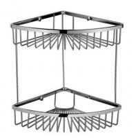 China 2 Layers Rust Proof Shower Caddy Wall Mounted Stainless Steel Shower Basket on sale