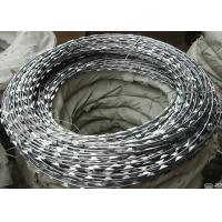 Quality BTO-22 Security Concertina Razor Barbed Wire Galvanized Surface 0.5mm Thickness wholesale