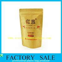 Quality Resealable Food Grade Stand Up Kraft Pouches , Paper Pouch Packaging For Tea wholesale