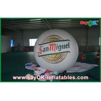 Quality Advertising White 2M Inflatable Balloon Helium Blimp Balloon 0.18mm PVC wholesale