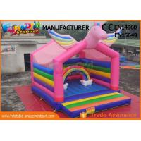 Quality Mulit Color Commercial Bouncy Castles Inflatable Unicorn Bouncer Digital Printing wholesale