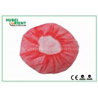 Quality Eco - Friendly Dental Disposable Hair Caps , Red Operating Room Caps With Polypropylene Materials wholesale