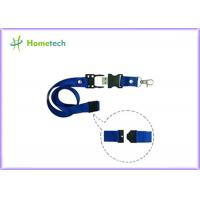 China 8gb / 16gb Blue Lanyard USB Flash Drives High Capacity for the teaching staff or student  of a school on sale