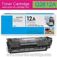 China Supply HP toner cartridge Q2612A/HP 12A for LaserJet 1012, 1018, 1020 on sale
