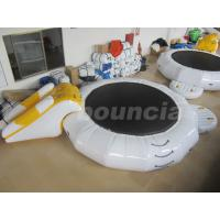 Quality Inflatable Floating Water Trampoline Combo For Water Park Use wholesale