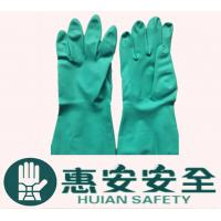 Quality 15mil 18mil High Quality Green Nitrile Chemical Work Gloves wholesale