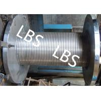 Quality Custom Lebus Groove Wire Rope Drum With High Speed Rope Wheel wholesale