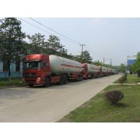 Cheap Natural Gas Transport Semi Traile 56m3 With Double Valve Boxes for sale
