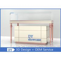 Cheap Custom Cream - Colored Jewelry Showcase Display / Jewelry Store Fixtures for sale
