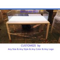 Cheap Simple Usefull Modern White Wood Glass Counter Display For Jewelry for sale