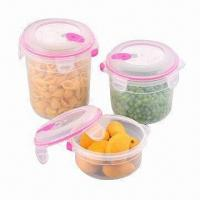Quality Plastic Airtight Container Set, BPA-free/Various Sizes and Colors are Available/FDA/EN 71 Certified wholesale