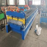 Quality Advanced Roofing Sheet Roll Forming Machine With Double Chains Drive 0.3mm - 0.8mm wholesale