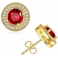 China Stud Gold Earrings for Women Cubic Zirconia Earring Studs Small Golden Earrings for Girl on sale