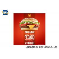 Quality Fast Food Advertising 3D Lenticular Poster Flip Effect Stunning Design For Promotion wholesale