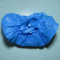China Anti Bacterial CPE Disposable Shoe Covers , Plastic Non Skid Shoe Covers on sale