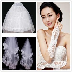 Quality Romantic Lace Wedding Veil / Gloves Bride Wedding Accessories Customized wholesale