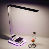 Quality QI certificate wireless charger led desk lamp with USB port wholesale