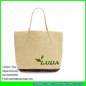 China LUDA colored large straw bag women crochet paper straw handbag on sale