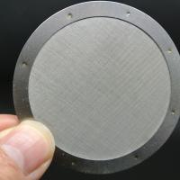 Quality Round Disc 304 Stainless Steel Filter Mesh 0.25 1 1.5 Inch Plain Weave Style wholesale