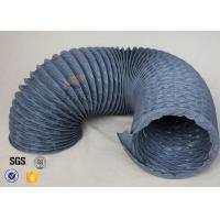 Quality Flexible PVC Coated Fiberglass Fabric Air Duct , PVC Fiber Glass Hose wholesale
