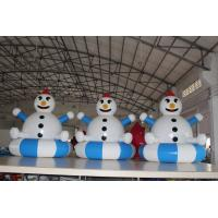 Quality Airtight PVC Customized Inflatable Snowman Decorations Easy To Clean wholesale