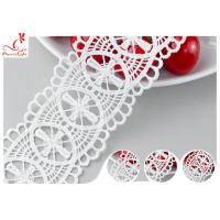 Quality 5 CM Double Edged Scalloped Lace Trim With Polyester OEKO - TEX 100 DTM Dyeing wholesale