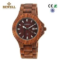 Quality Beautiful Unique Men Wooden Watches , Natural Wood Watches Single Calendar wholesale