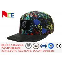 Quality Paint - Splashing Style Womens Snapback Hats , Colorful Hip Hop Snapback Caps wholesale