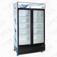 Cheap 1200l double swing transparent doors soft commercial drink coolers for convenient store of - Commercial double swing doors ...