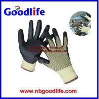 Quality Foam nitrile cut resistant gloves with UMW PE Fiber shell wholesale