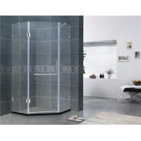 China Two Adjustable Support Bar Shower Screens Swing Hinge Diamond Style 135 Degree Magnetic Seal on sale