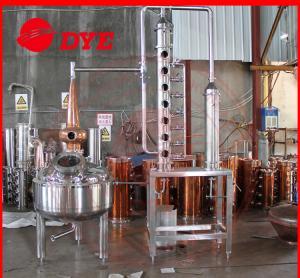 Quality Micro Copper Distiller 200L - 5000L , Vodka Distillation Equipment wholesale