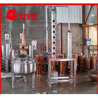 Quality Micro Copper Distiller 200L - 5000L , Vodka Distillation Equipment wholesale