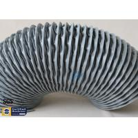 Quality PVC Coated Fiberglass Fabric Flexible Air Ducts 200MM Grey Waterproof Fireproof wholesale