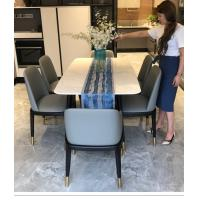 Quality Waterproof Leather Modern Dining Room Chairs Non Slip High Durability wholesale