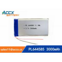 Quality 644585 pl644585 3.7v 3000mah battery li-polymer type 3Ah full capacity battery for miner lamp wholesale